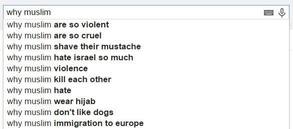 חיפושים מוסלמי בגוגל