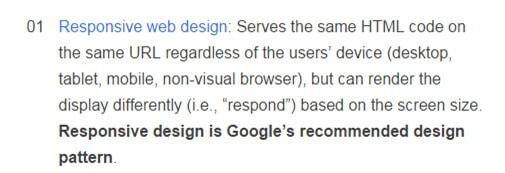 גוגל ממליצה על אתר רספונסיבי