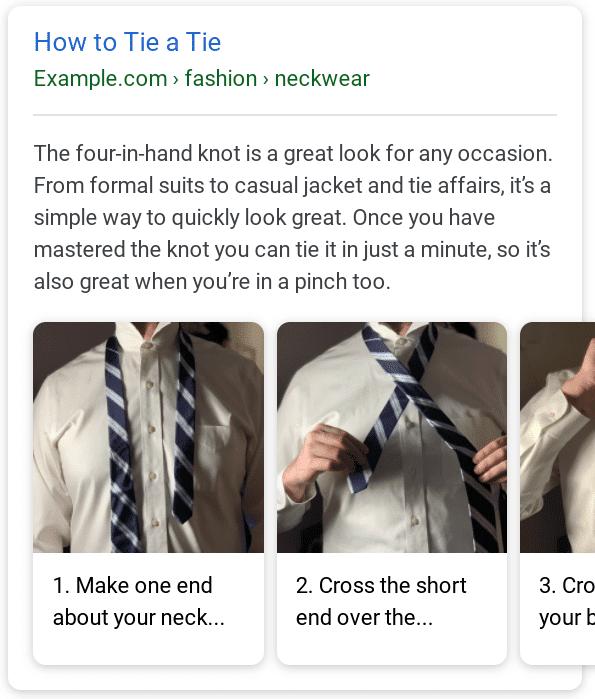 דוגמא לסכמה של How To בגוגל