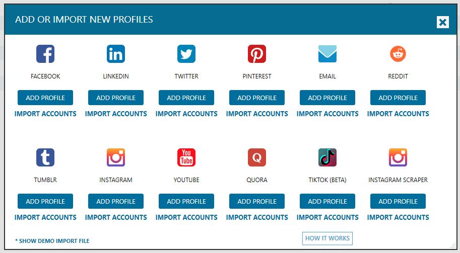 רשימת הרשתות החברתיות